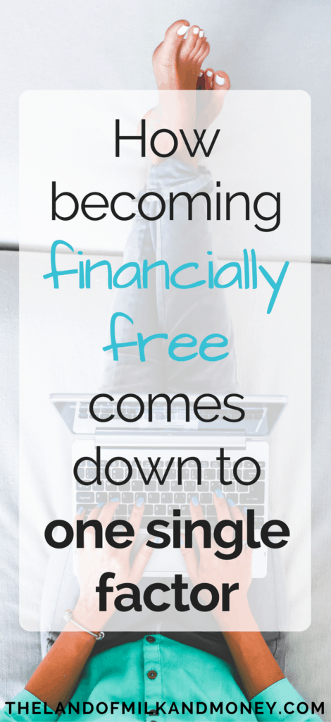 It's crazy that with all of the tips on how to save money or how to have a side hustle, financial freedom is really just based on one thing! Super interesting and I can't wait to start putting this in place in my life so that I can become financially independent and retire early!