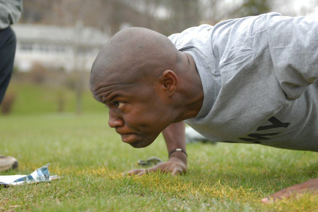 Push ups are a great example of free bodyweight training