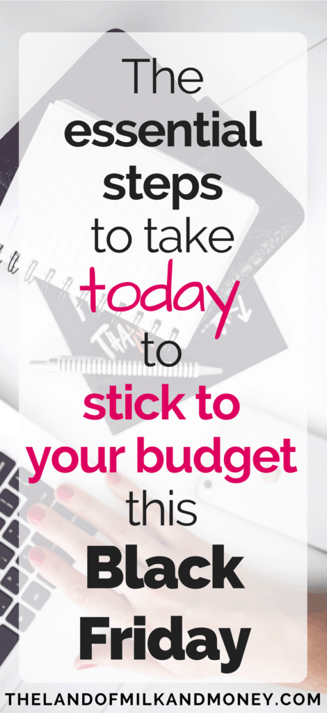 Save money Black Friday budget