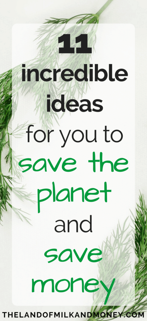 save money and be environmentally friendly