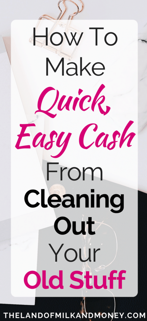 Make money cleaning spring sell trade-in phone DVD computer books clothes