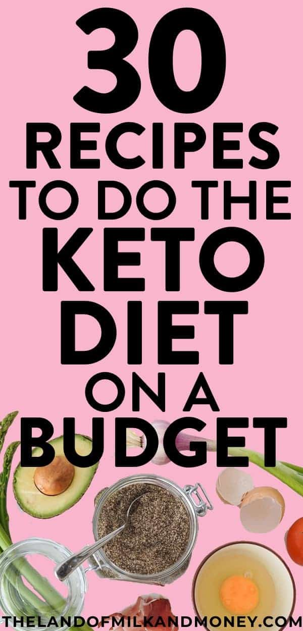 Wow, these simple keto recipes are PERFECT for beginners like me to make an easy and cheap keto meal plan! Having keto recipe ideas for these super cheap keto meals are great for having breakfast ideas, lunch ideas, dinner ideas, dessert and fat bombs! And the fact that I can do keto on a budget with these recipes is the best, as I really need tips like this to work on saving money while sticking to the ketogenic diet to lose weight #keto #recipes #frugal #savemoney #mealprep