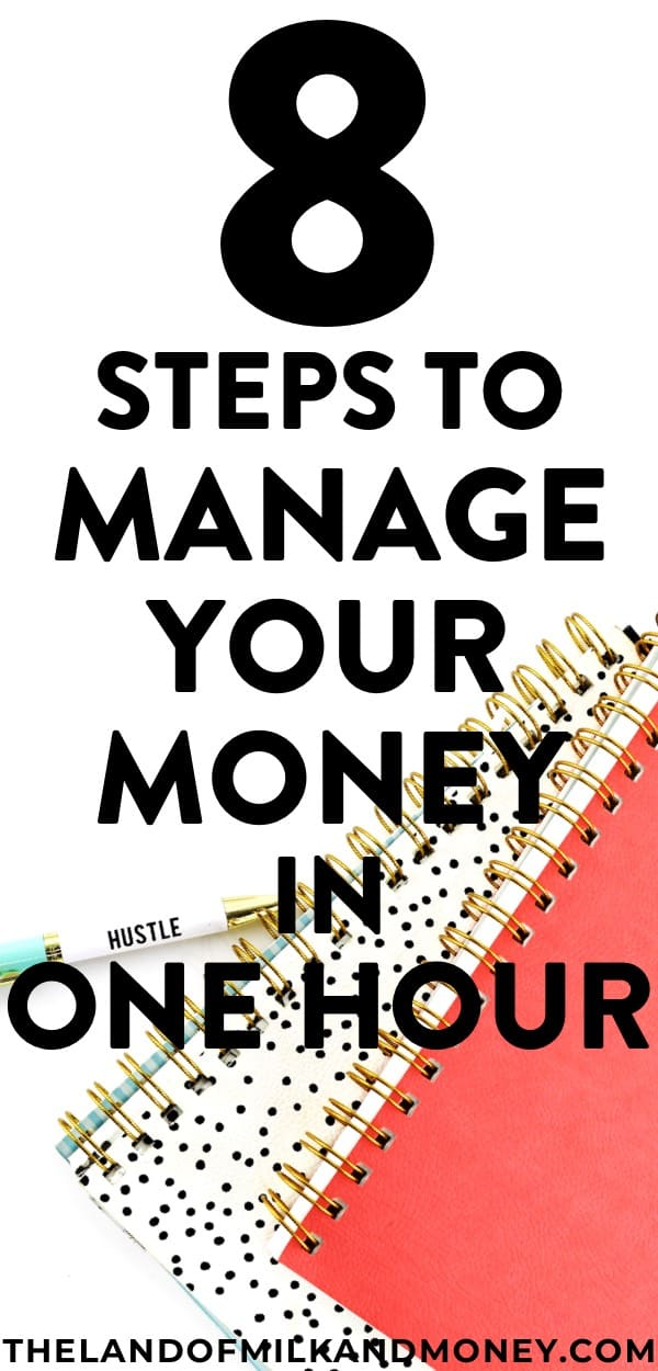 One hour to start to manage my money properly is pretty much NOTHING. I can't wait to sit down with my husband tonight and make sure we're living on a budget - these tips (especially for beginners like us!) make it so quick and easy for us to embrace frugal living and keep saving money! #budget #budgeting #money #frugal #savemoney #save #money #cash #personalfinance #financialfreedom #finances #debt #hacks #ideas