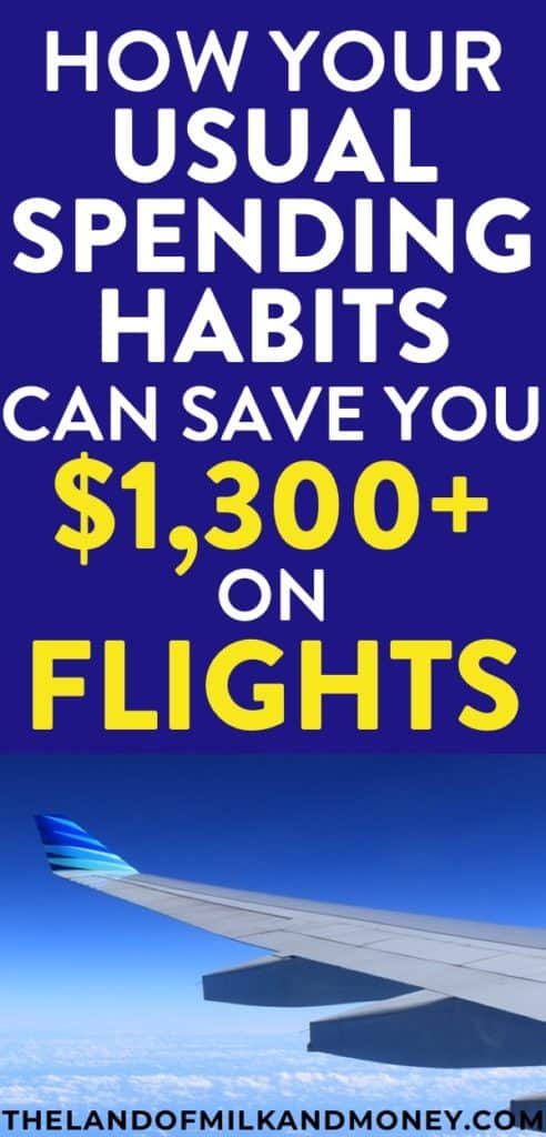 I LOVE traveling so this tip on how to save money on flights is amazing! It's so good to know that I can include a vacation in my budget just from living my normal life! #savemoney #save #money #budget #budgettravel #budgeting #travel #traveltips #frugal #debt #debtfree #tips #credit #financialfreedom