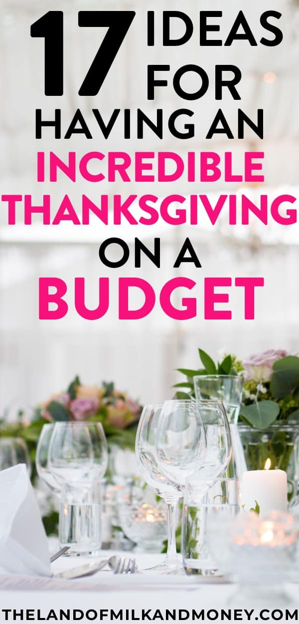 These are some amazing ideas to save money by doing Thanksgiving on a budget! It's so good that our family can still do all the traditions, like dinner and DIY decorations for home (those ones are great for kids to keep busy while the adults are making the food!), but with these frugal tips to help us stick to our budget.
