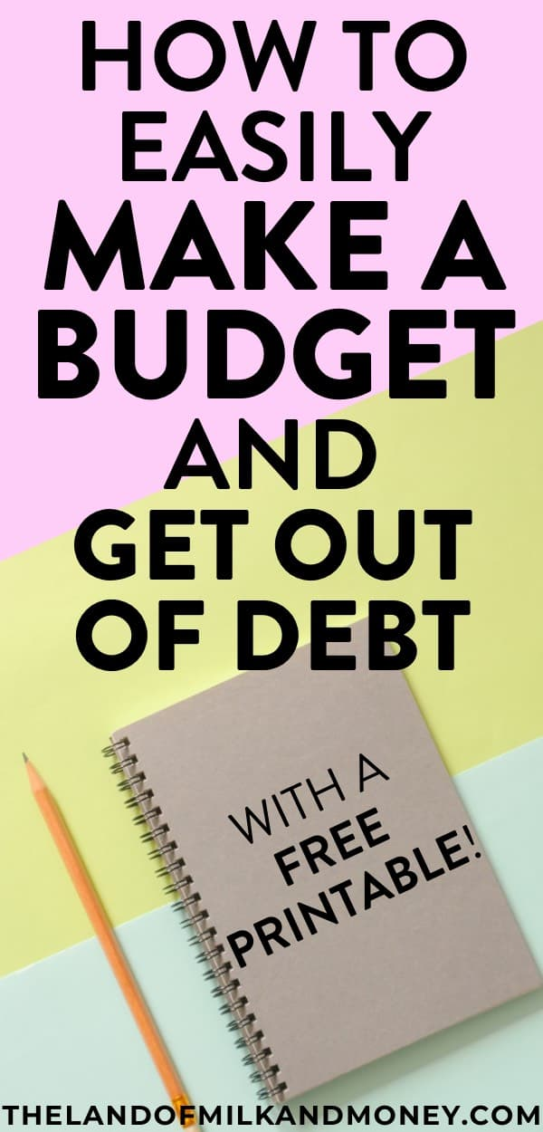 I always thought that creating a budget would be hard but this shows that it's super easy for beginners like me to make a budget! The free monthly budget template definitely helps too. I love a good worksheet to help me with living on a budget so I can start saving money and become debt free!