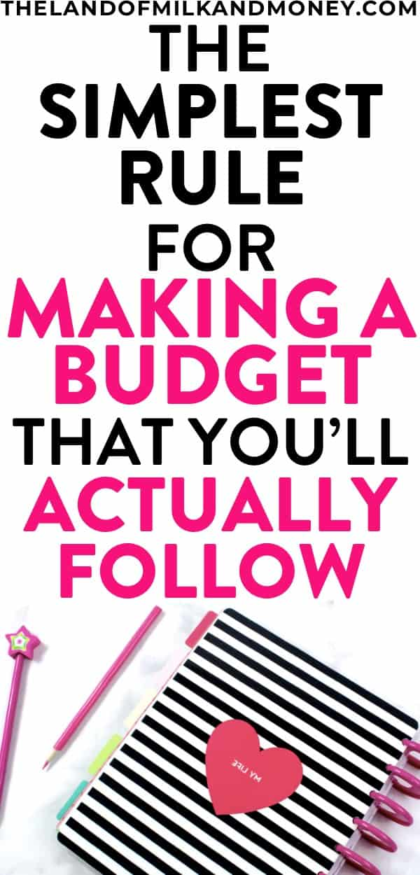 I had NO idea how to make a budget plan so the 50/30/20 rule saved my life! This is the perfect budget plan for beginners like me to start a budget and save money to pay off debt. And the free printable template is pretty amazing too!