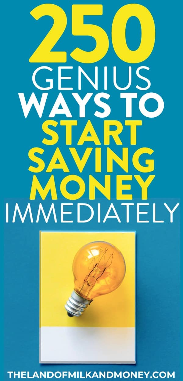 These 250 money saving tips and ideas are incredible! Having so many saving money ideas in one place is great. I'll definitely use the frugal living hacks weekly and monthly as tips and tricks to save money fast on groceries, on a house, on food and more! Having such great money saving tricks and tips make it easy for everyone to stick to a saving plan and follow a budget - for teens, in your 20s, for families, singles, couples or moms. Great for becoming debt free and reaching financial peace!