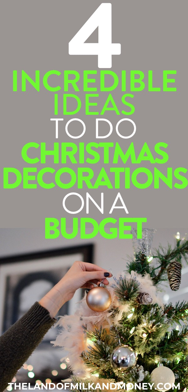 4 Super Simple And Cheap Christmas Decoration Ideas