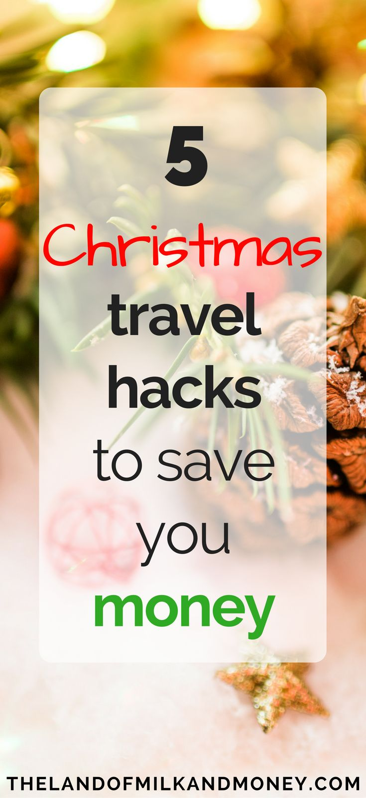 These cheap Christmas travel ideas are great money saving tips for the holidays. Trying to do Christmas on a budget can be super hard but seeing how to do a frugal Christmas with things like this is amazing to help me save money and embrace frugal living, even when trying to get to my dream destinations these holidays! #christmas #holidays #frugal #savemoney