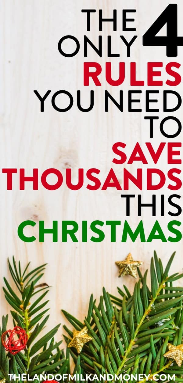 These money saving tips for how to do Christmas on a budget are incredible! I love having these simple ideas for having a frugal Christmas by saving money on holiday traditions. It's so hard to see how to save money at Christmas, but these are perfect for families like ours for decorating, food, shopping and more - all to have extra money! #christmas #holidays #frugal #savemoney