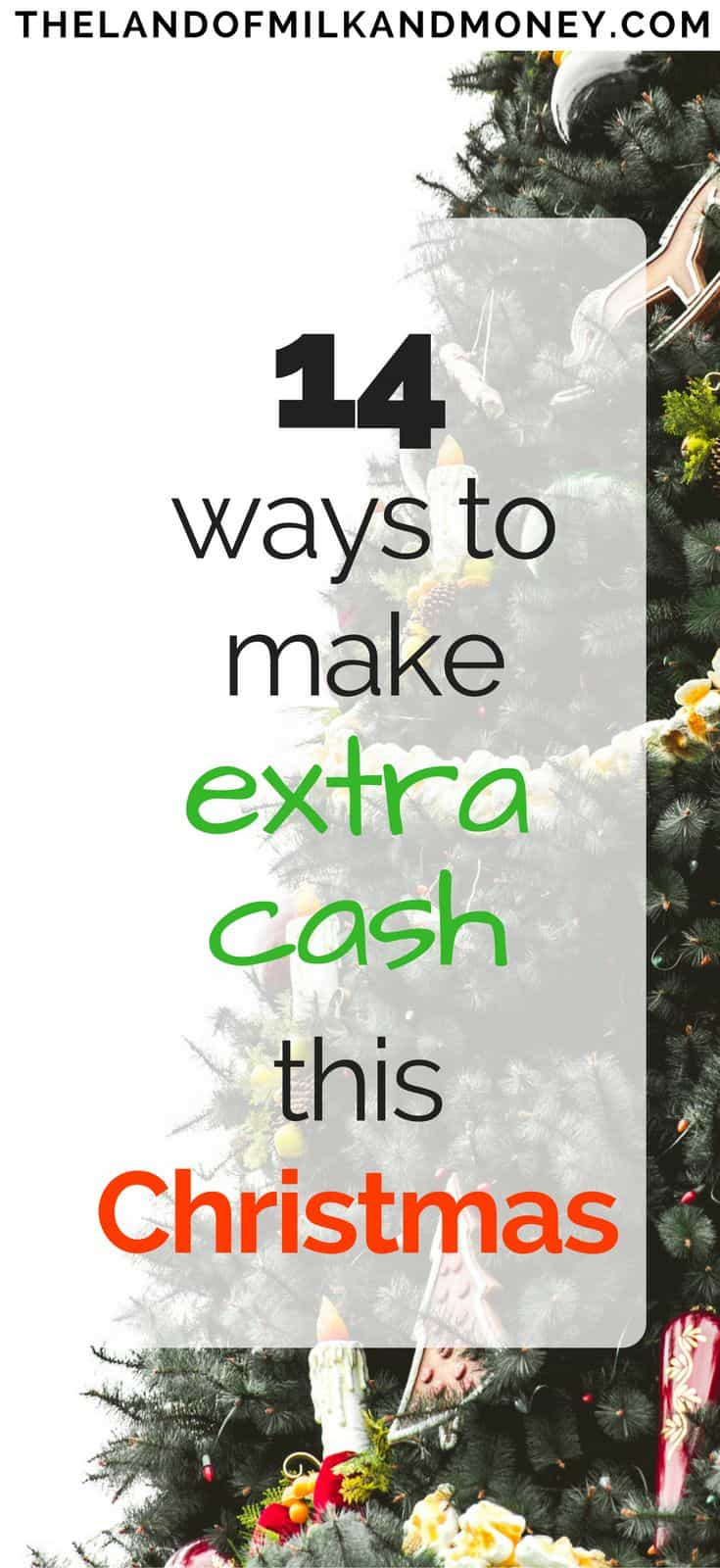 I never would have thought of ways to make money over the holidays but seeing how to earn extra money is so good when I'm trying to have a frugal Christmas on a budget! Seeing how to make money from home as a Christmas side hustle is fantastic - and will go a long way to helping me pay for the Christmas traditions in our family! #christmas #holidays #makemoney #sidehustle