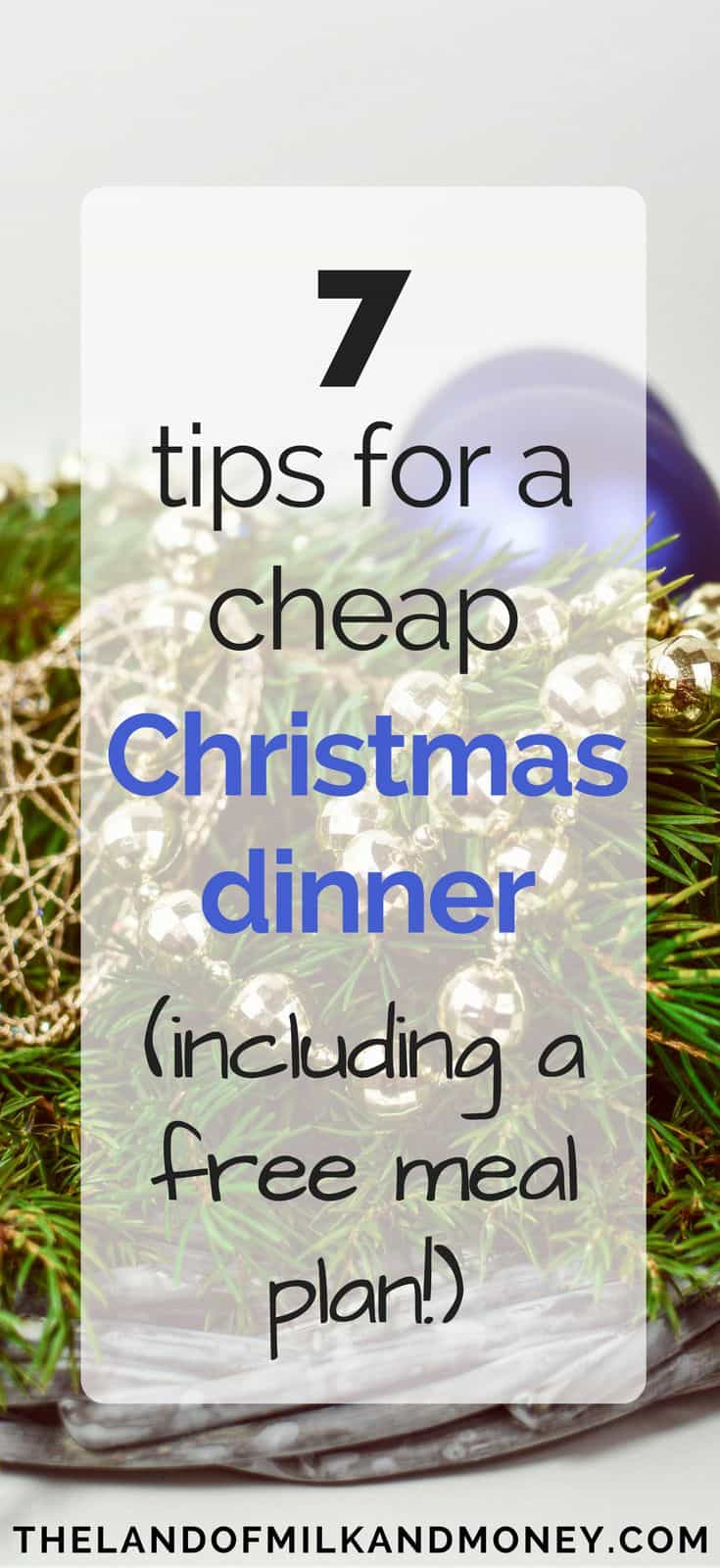 These cheap Christmas dinner ideas are amazing for having a frugal Christmas on a budget! I SO needed some ideas to help me save money these holidays so these money saving tips are perfect! It's great to see that we can still have our Christmas traditions while embracing frugal living, with easy Christmas recipes and menus that are real money savers #christmas #holidays #frugal #savemoney