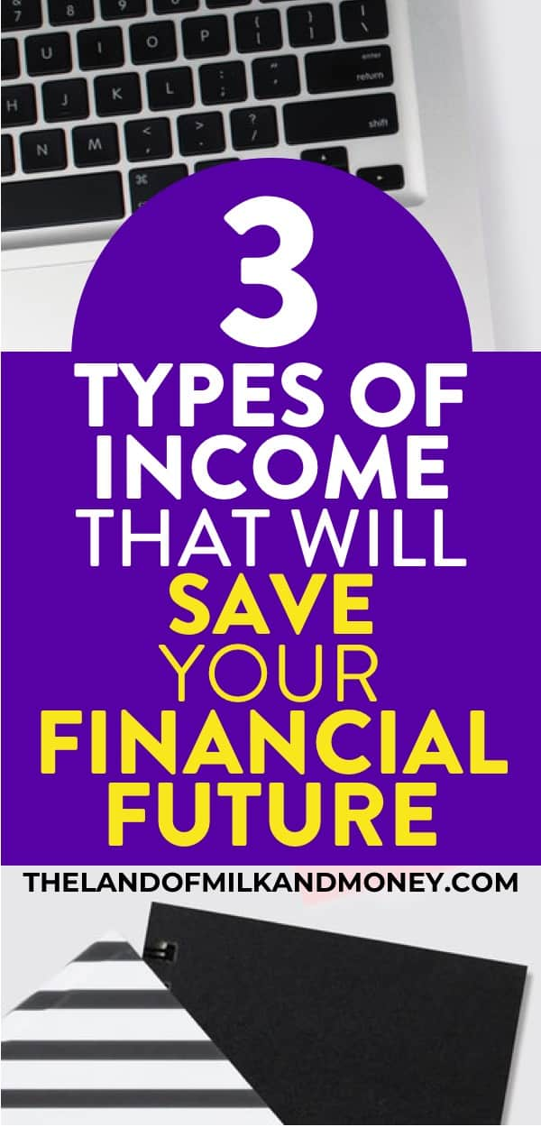 This tip on different types of income is SO good for knowing how to make money. I love new personal finance tips for my financial literacy and this is one of the best for reaching financial freedom with good money management. What a great combination of money makers (either with a work from home job or side hustle!) and investing money for passive income for being secure for retirement. With this and a savings plan, I'll definitely have financial peace #personalfinance #moneymanagement #income